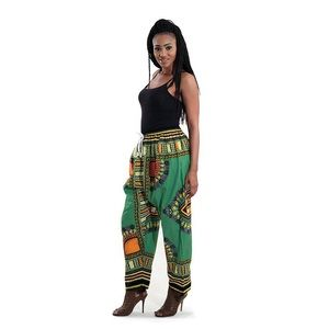 Green dashiki pants unisex